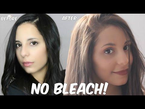 DIY Lighten Dark Hair WITHOUT Bleach at Home!!!