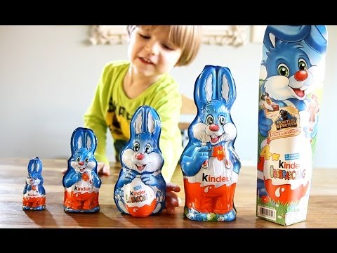 5 different Kinder Surprise Easter Bunnies - some Kinder Eggs and Big Package !