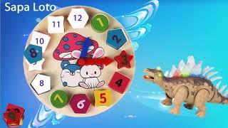 Sapa Loto - Ghép hình đồng hồ cùng Khủng Long - Puzzle Clock with Dinosaurs