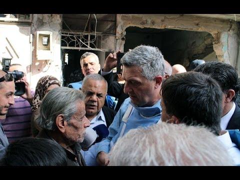 Food distribution in Yarmouk - 30 January 2014