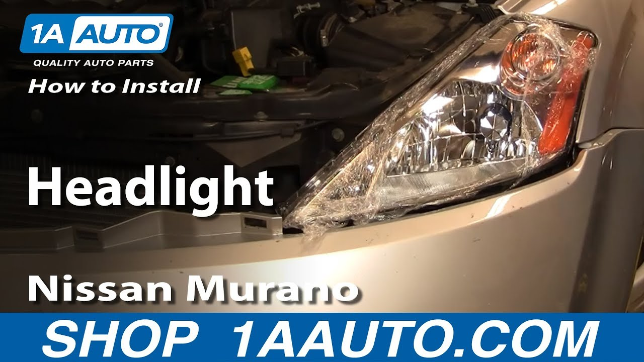 How To Install Replace Headlight 03 07 Nissan Murano