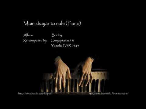 Main shayar to nahi (piano)