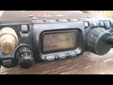 The Lightweight Magnetic Loop - First contact on 40 meters - M0VST/QRP [HD]