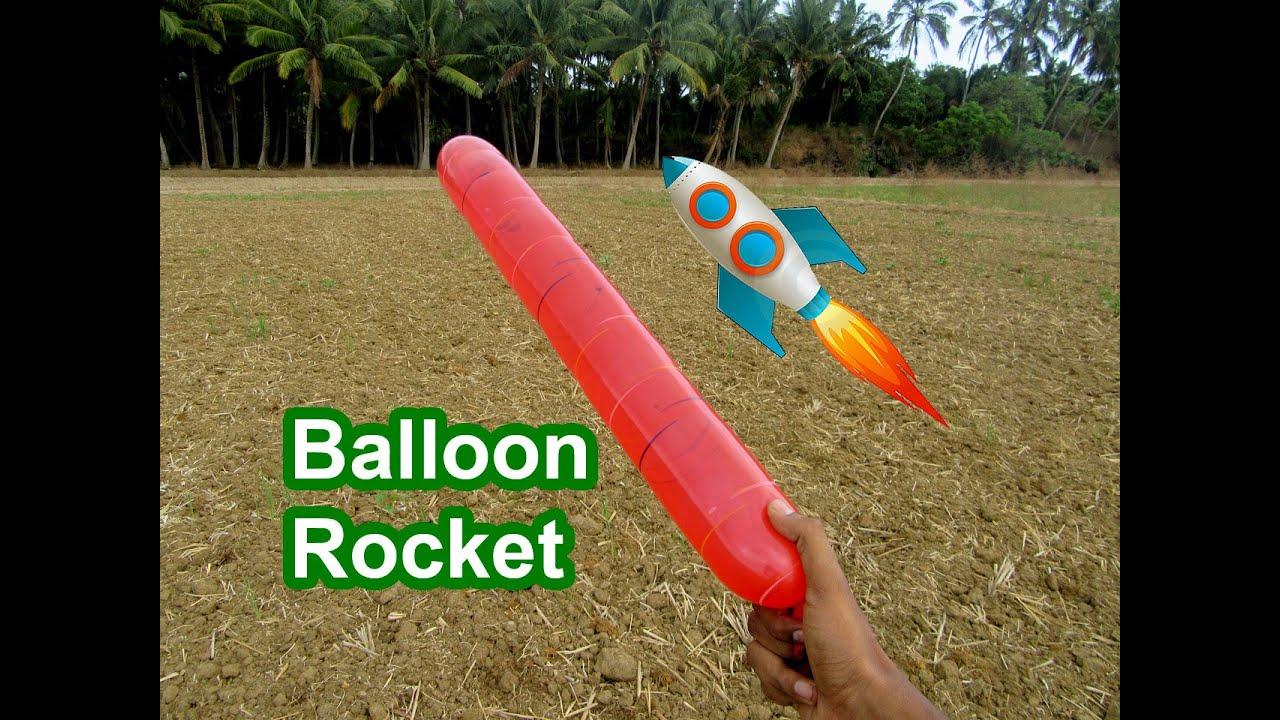 Лайфхак: как сделать простейшую летающую ракету 53