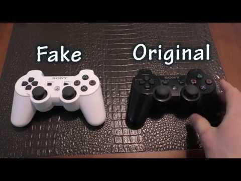 COMPARISON: PS3 Controller - Fake Ebay