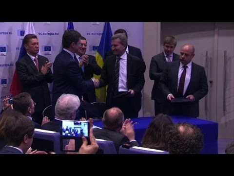 EU, Russia, Ukraine seal breakthrough gas accord