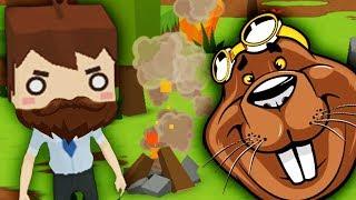 Выживание в лесу СУСЛЫ НАПАДАЮТ Мультяшная игра про выживание Mine Survival