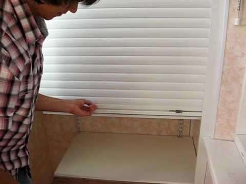 Рольставни (ролеты) на балкон. как можно применить. на сайте.
