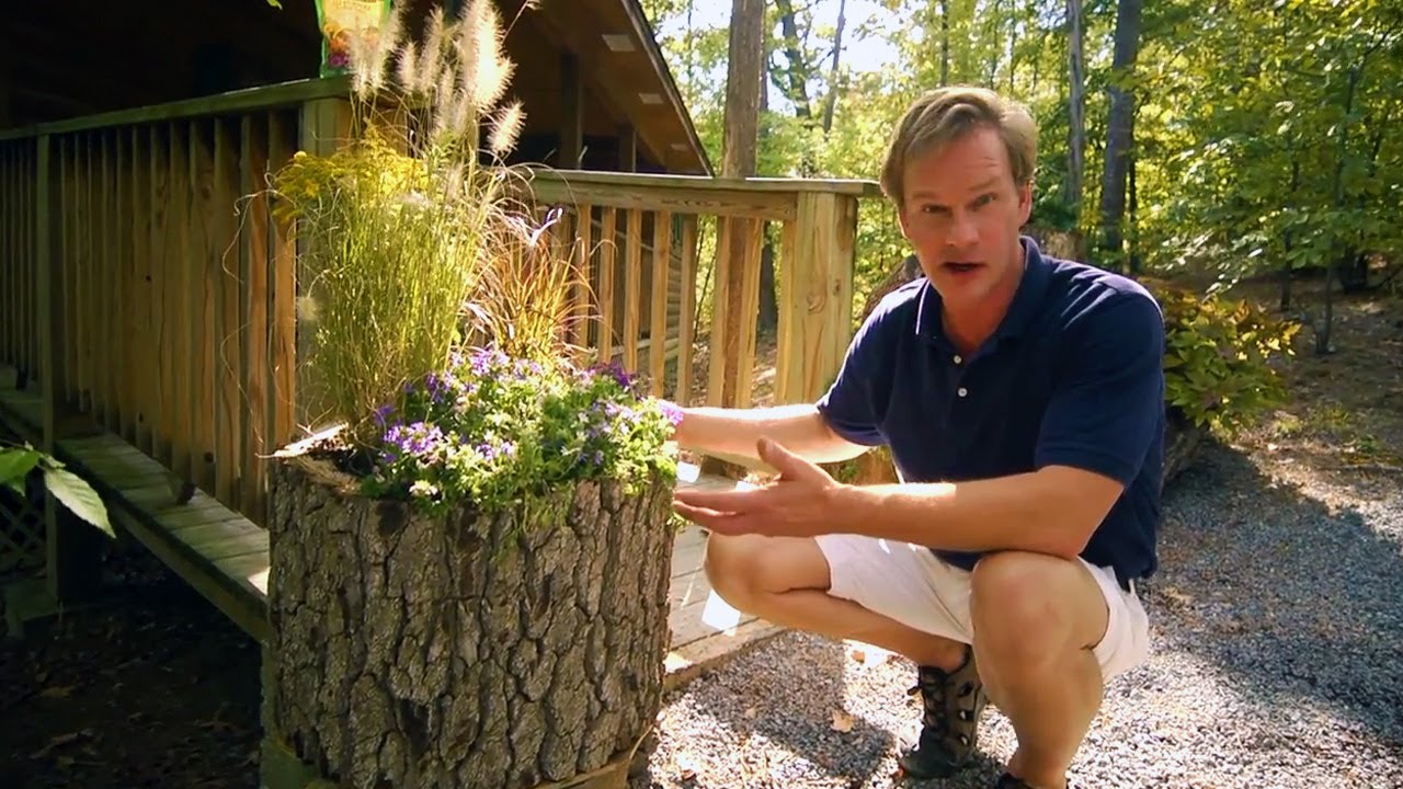 How To Make Wood Log Planters At Home With P Allen
