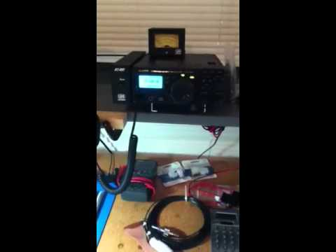 Yaesu-FT897D tuned to NWS weather station
