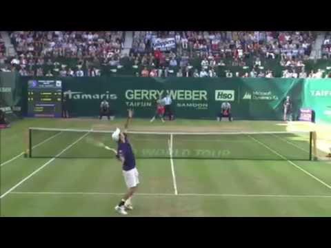 ATP Halle - Roger Federer Vs Kei Nishikori - Full Highlights -14th June 2014