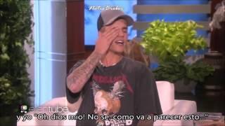 Justin Bieber en Ellen hablando de sus fotos desnudo (ESPAÑOL SUBTITULADO)