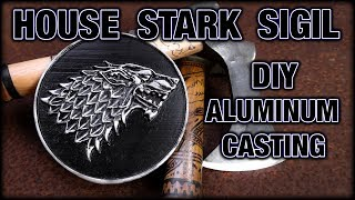 Game Of Thrones House Stark Sigil Aluminum Cast