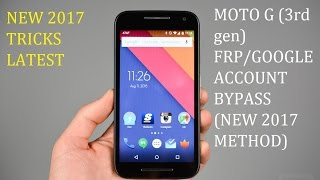 MOTO G (3rd gen) FRP unlock latest 2017 Tricks.
