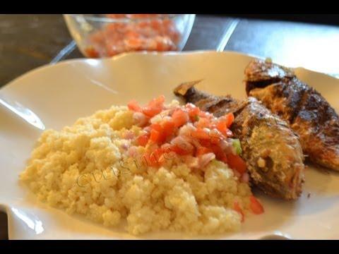 Recette du Attieke poisson ( cuisine ivoirienne) - how o cook attieke and fish