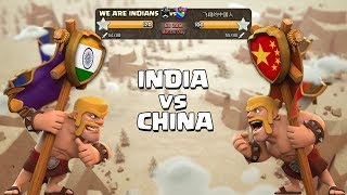 I NEVER EXPECTED THIS | INDIA vs CHINA Clan War - Best War Attacks - Clash of Clans - COC