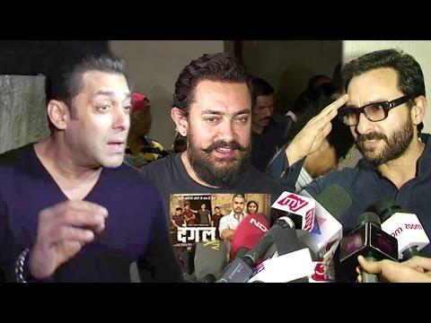Bollywood Celebs BEST Reaction After Watching DANGAL Movie - Salman,Aamir,Saif,Kangana thumbnail