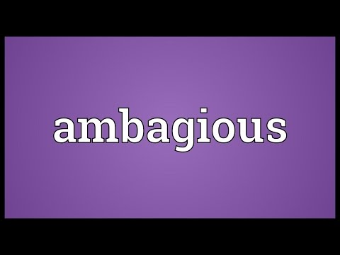 Header of ambagious