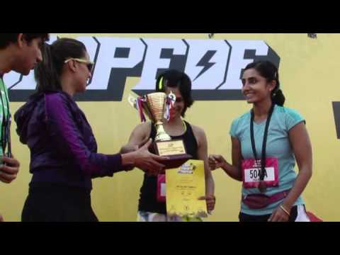 Puma Urban Stampede Relay Race Prize Distribution By Neha Dhupia Part 2 video