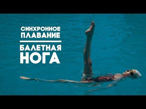 Синхронное плавание | Что такое «балетная нога» и как ее сделать?