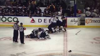 Jake McCabe Hit on Patrick Laine (Jets vs. Sabres)(2017)