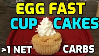 EGG FAST CUPCAKES! KETO APPROVED! DENSE, SOFT, AND DELICIOUS!