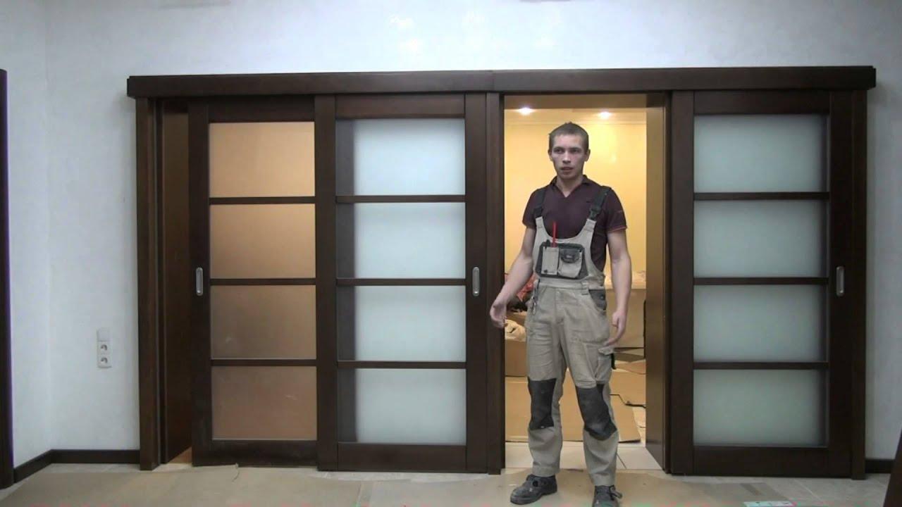 Межкомнатная раздвижная дверь в стене своими руками