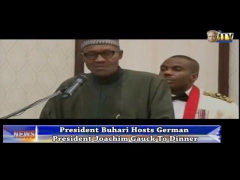 President Buhari Hosts German President Joachim Gauck To Dinner