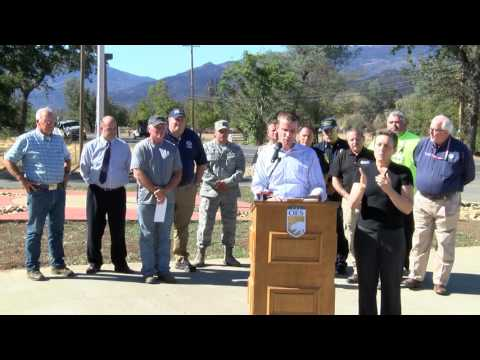 FEMA Administrator Talks Valley Fire Recovery at Middletown News Conference