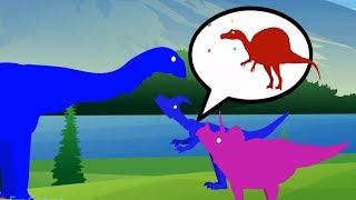 Funny Dinosaur Cartoons For Children | Titanosaurus vs Spinosaurus Play Soccer Ball