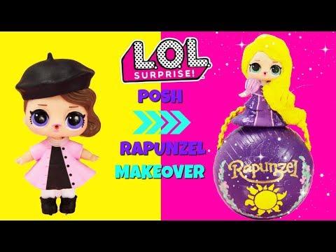 DIY Posh To RAPUNZEL LOL Surprise Doll Makeover