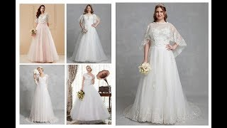 Women Wedding Dresses With Lace 2019-20=White Bridal Floor Length Dress