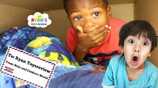 I MAILED MYSELF TO Ryan's ToysReview and IT WORKED!!!