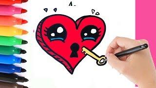 ¿CÓMO DIBUJAR UN CORAZÓN DE BLOQUEO? HOW TO DRAW A LOCKET HEART?