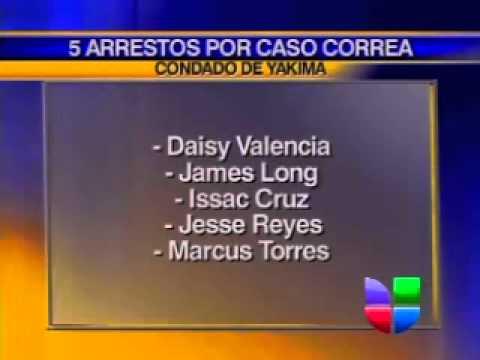 Lista de Arrestados en Caso de Muerte de Jose Manuel Correa