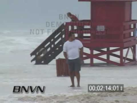 6/2/2007 Sarasota, FL Siesta Key - Tropical Storm Barry Video