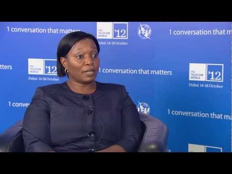 Margaret Mudenda, DG, ICT Authority, Zambia @ ITU TELECOM WORLD 2012