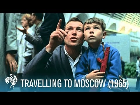 Travelling to Moscow ft. Sir Laurence Olivier, Robert Lang, & More (1965) | British Pathé