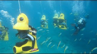 Our First Underwater Scooter Drive - Charlotte Amalie, St. Thomas