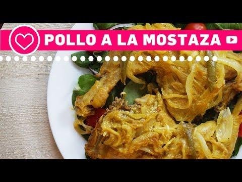 Pollo a la mostaza - Comida Saludable - Las Recetas de Laura
