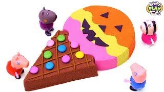 Learn Colors with How To Make Kinetic Sand Halloween Ice Cream for kids ¦ Stopmotion Video
