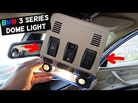 HOW TO REMOVE AND REPLACE DOME LIGHT ON BMW E90 E91 E92 E93