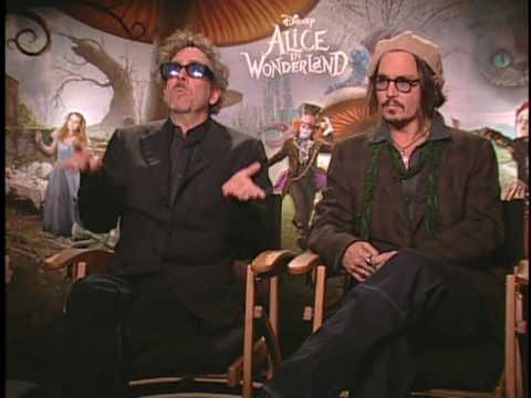 ALICE IN WONDERLAND Interviews with Johnny Depp, Tim Burton, Helena Bonham Carter and more!