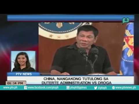 [PTVNews] China, nangakong tutulong sa Duterte administration vs droga [07|22|16]