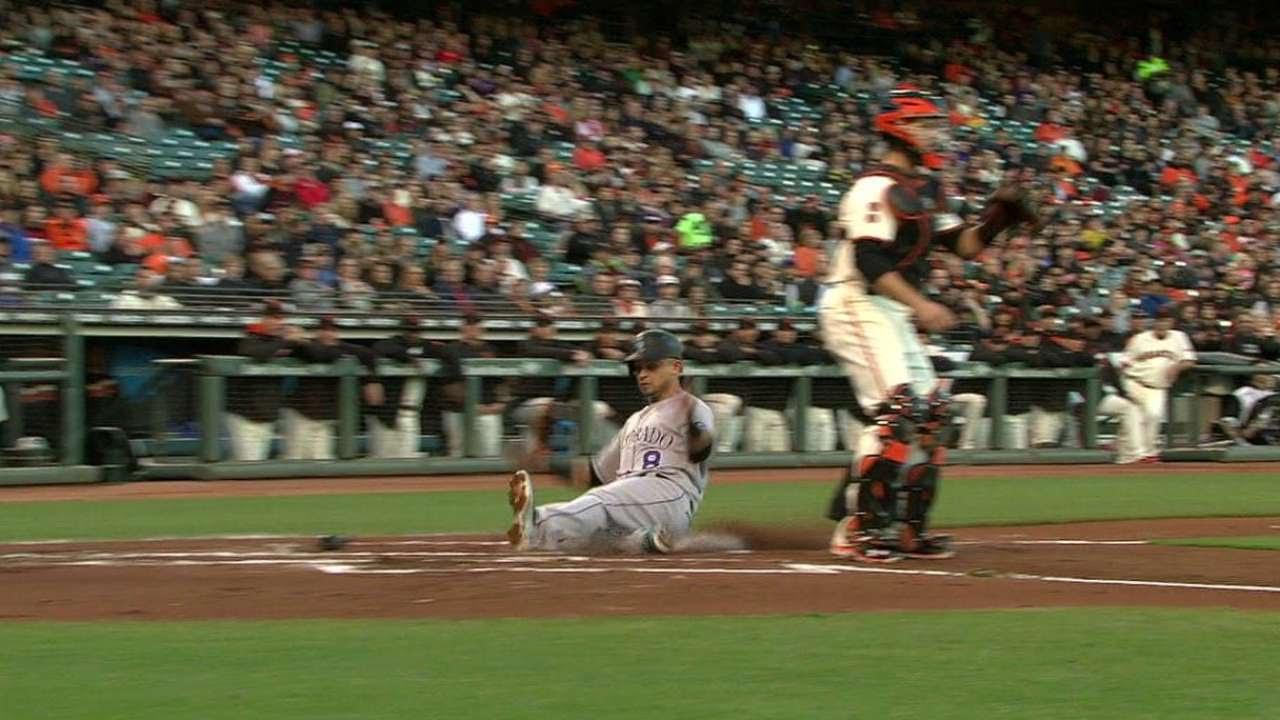 COL@SF: Reynolds gets an RBI on an infield single
