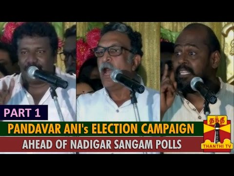 Pandavar Ani's Election Campaign ahead of Nadigar Sangam Polls : Part 1 - Thanthi TV