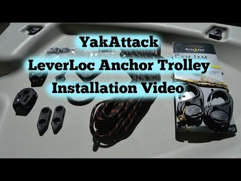 YakAttack LeverLoc Anchor Trolley Install - Emotions Stealth 11 Kayak - March 2016