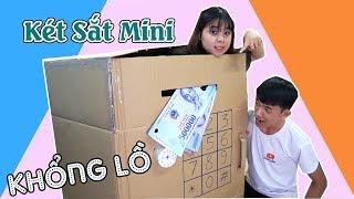 LÀM KÉT SẮT KHỔNG LỒ BẰNG THÙNG GIẤY- Giant Paper ATM Machine Toys For Kids