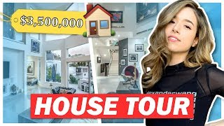 $3,500,000 MANSION House Tour + Surprise Party 😱 Pokimane