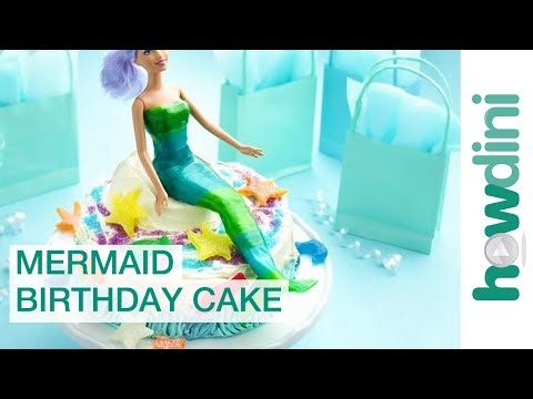 How to make a mermaid cake - Easy mermaid birthday cake Video